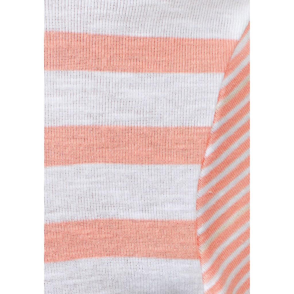 KangaROOS Kapuzenshirt, im schönen Streifen-Mix mit passender Kordel