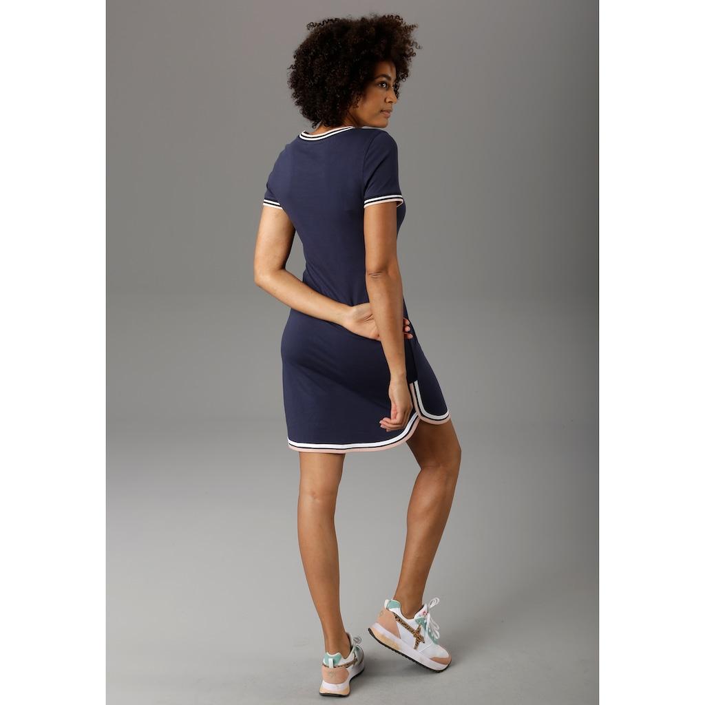 Aniston CASUAL Jerseykleid, mit raffiniertem Saum - NEUE KOLLEKTION