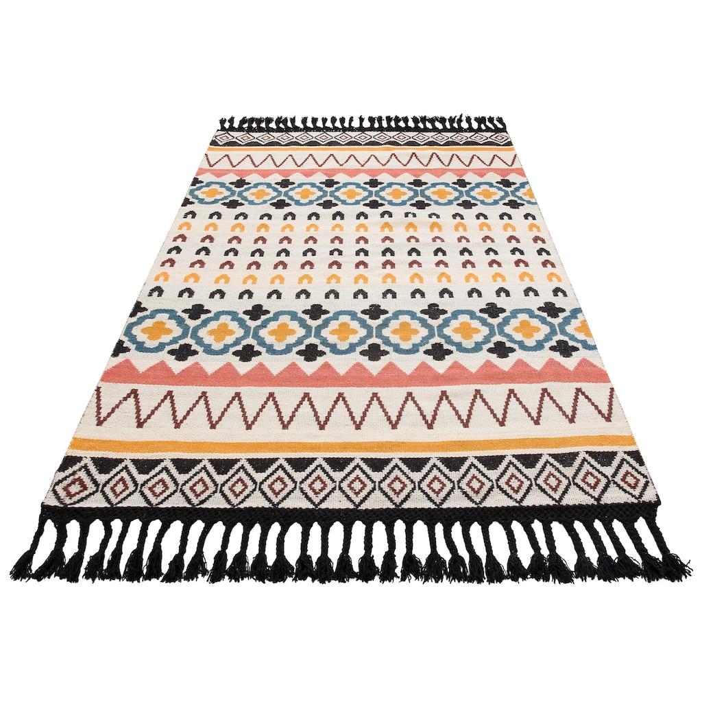 Guido Maria Kretschmer Home&Living Teppich »Peru«, rechteckig, 6 mm Höhe, Wollteppich, Wohnzimmer