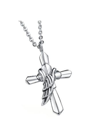 Vivance Kette mit Anhänger »Kreuz, Flügel« kaufen