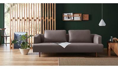 hülsta sofa 4-Sitzer »hs.440«, wahlweise in Stoff oder Leder, Fuß Nussbaum kaufen