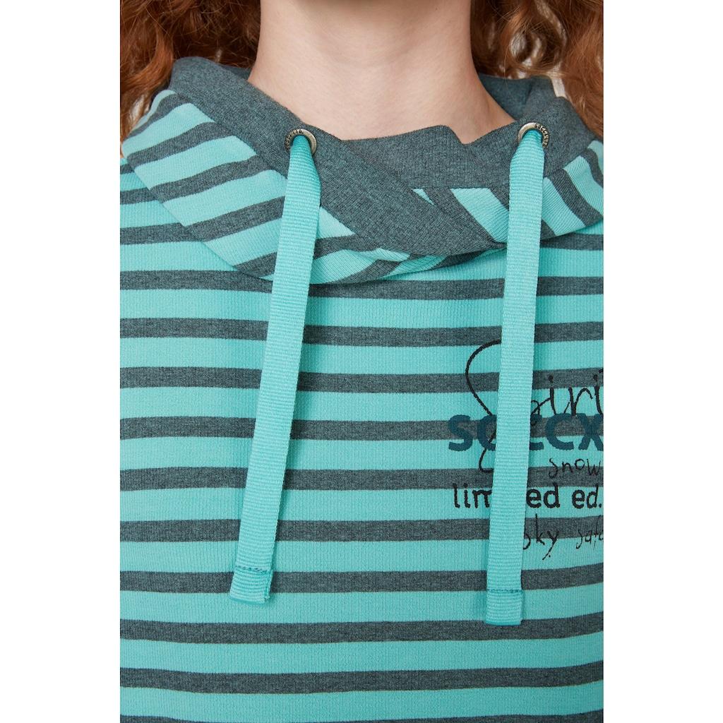 SOCCX Kapuzenshirt, aus sportlich geripptem Material