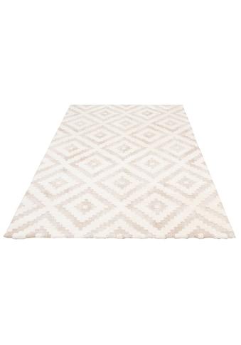 elbgestoeber Teppich »Elbscholle«, rechteckig, 15 mm Höhe, Hoch-Tief-Effekt, Wohnzimmer kaufen