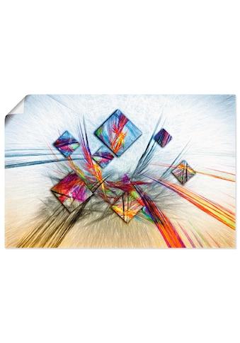 Artland Wandbild »Digitale abstrakte Malerei«, Muster, (1 St.), in vielen Größen &... kaufen