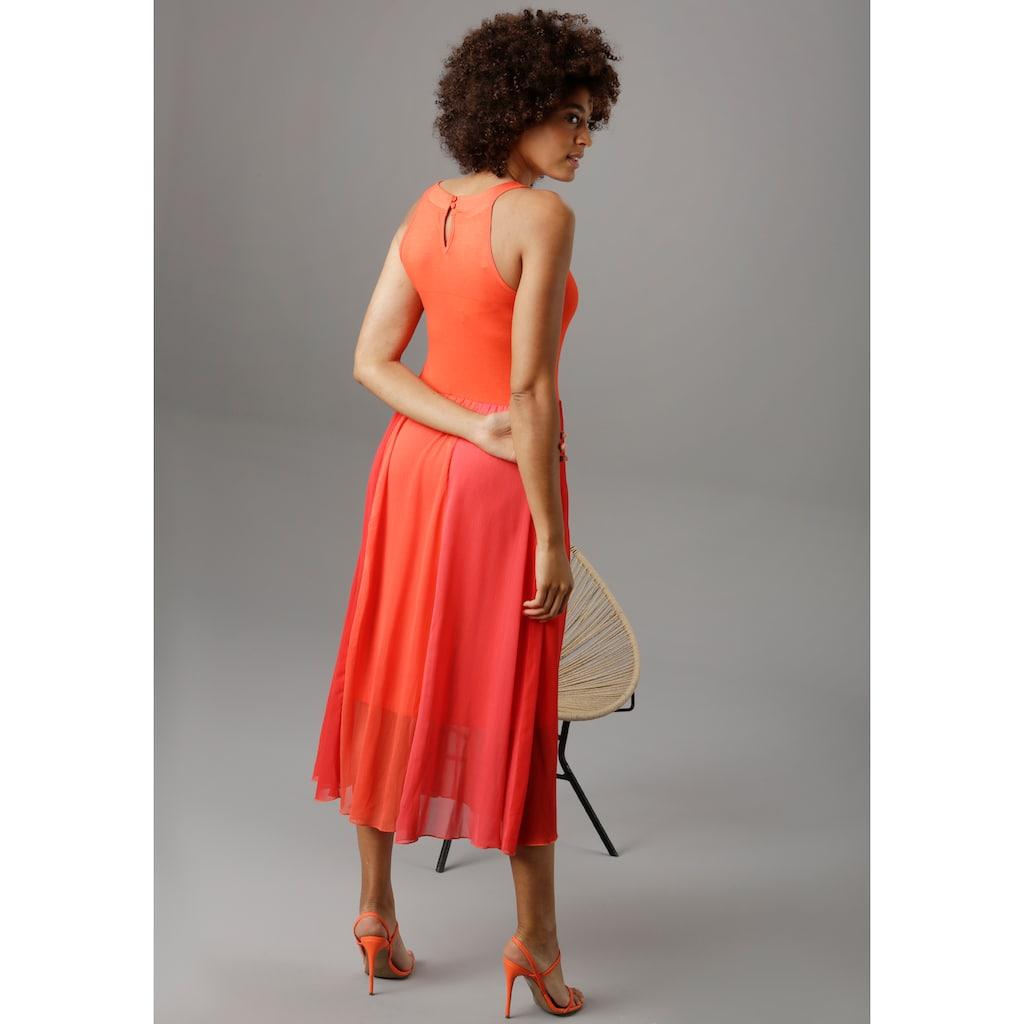 Aniston SELECTED Sommerkleid, in modischen Knallfarben - NEUE KOLLEKTION