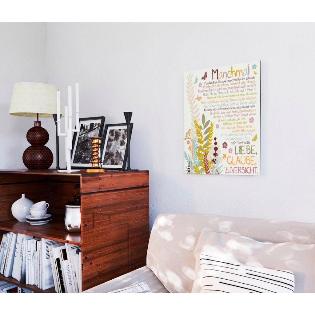 Home affaire Deco-Panel »Manchmal«
