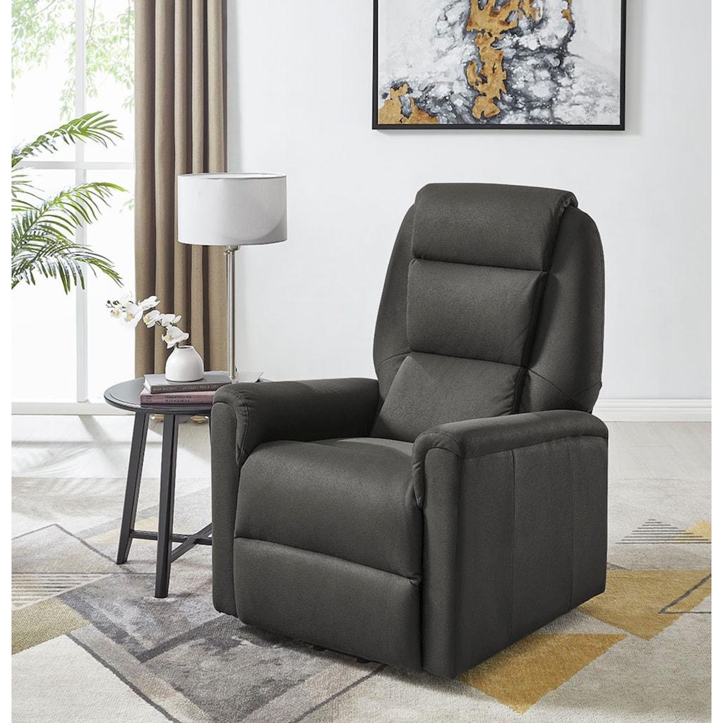 DELAVITA Relaxsessel »Arian«, mit einer elektrischen Relaxfunktion, Sitz- und Liegeposition möglich, Aufstehhilfe, Sitzhöhe 50 cm