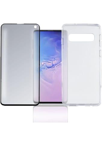 "4smarts Smartphone-Hülle »360° Premium Protection Set \""CF\"" Galaxy S10«, Galaxy S10,... kaufen"