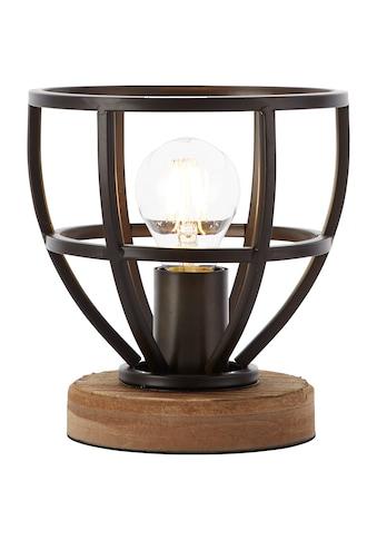 Brilliant Leuchten Matrix Wood Tischleuchte 18cm schwarz antik kaufen