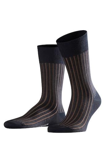 FALKE Socken »Shadow«, (1 Paar), Zweifarbeneffekt durch Rippstruktur kaufen