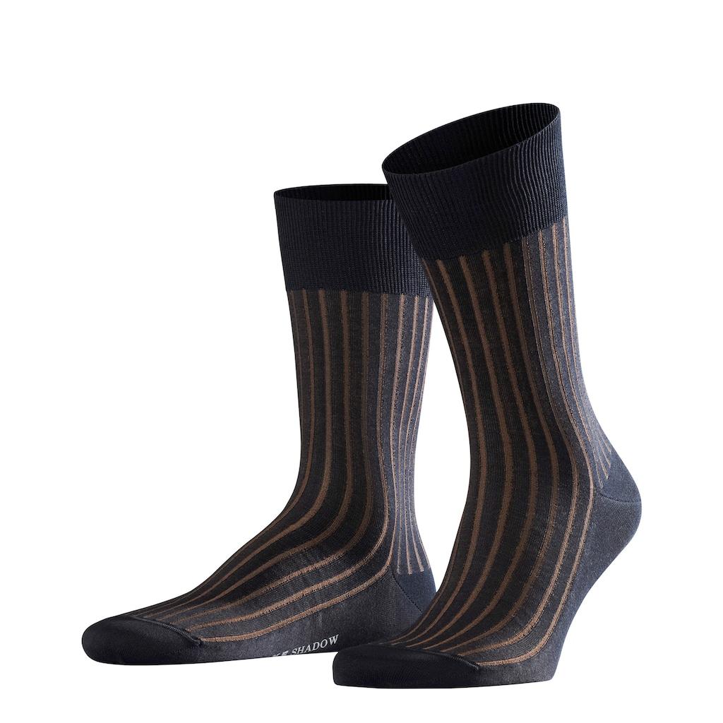FALKE Socken »Shadow«, (1 Paar), Zweifarbeneffekt durch Rippstruktur