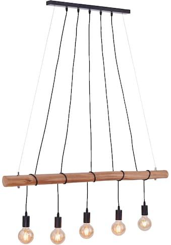 Leuchten Direkt Pendelleuchte »DAMIAN«, E27, Hängeleuchte, Eukalyptus-Holz kaufen