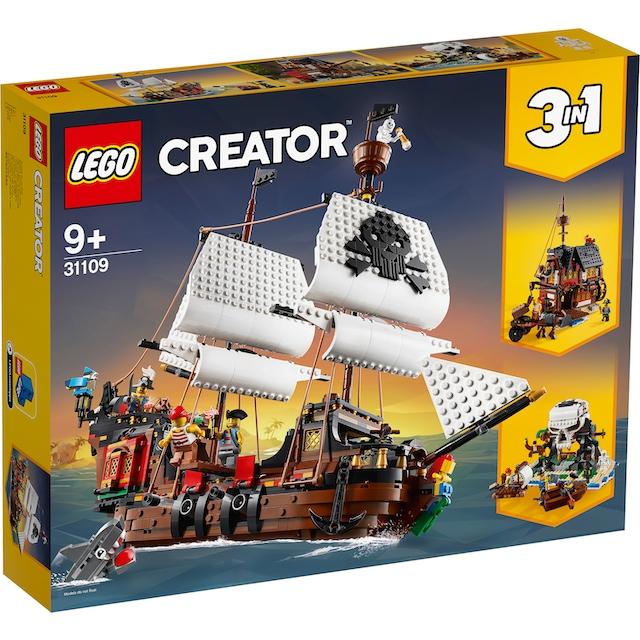 """LEGO® Konstruktionsspielsteine """"Piratenschiff (31109), LEGO® Creator"""", Kunststoff, (1264-tlg.)"""