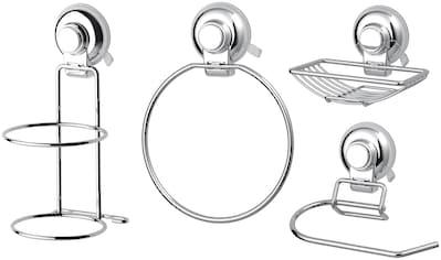 GSW Badaccessoires-Sets »HOOKIE System® 4-teilig«, Intelligenter Saughaken, roter Ring zeigt Saugkraftverlust kaufen
