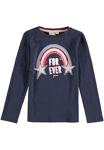 Garcia Langarmshirt »for ever«, Fransenapplikation kaufen