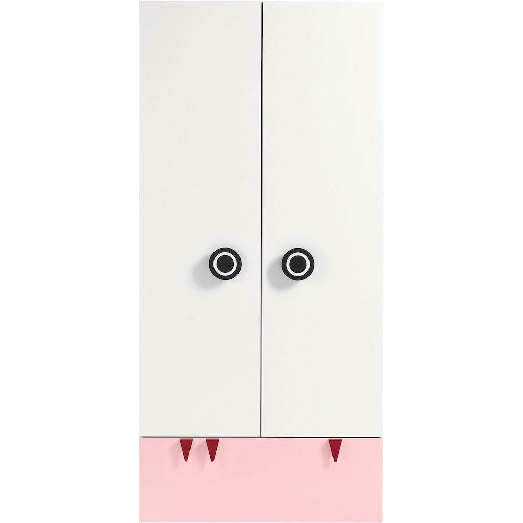 now! by hülsta Kleiderschrank »now! minimo«, mit schwarzen Augengriffen und Schublade, Breite 90 cm