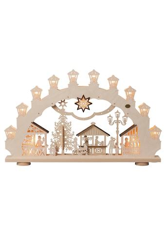 SAICO Original 3D-Lichterbogen Weihnachtsmarkt, 15flammig elektrisch beleuchtet kaufen