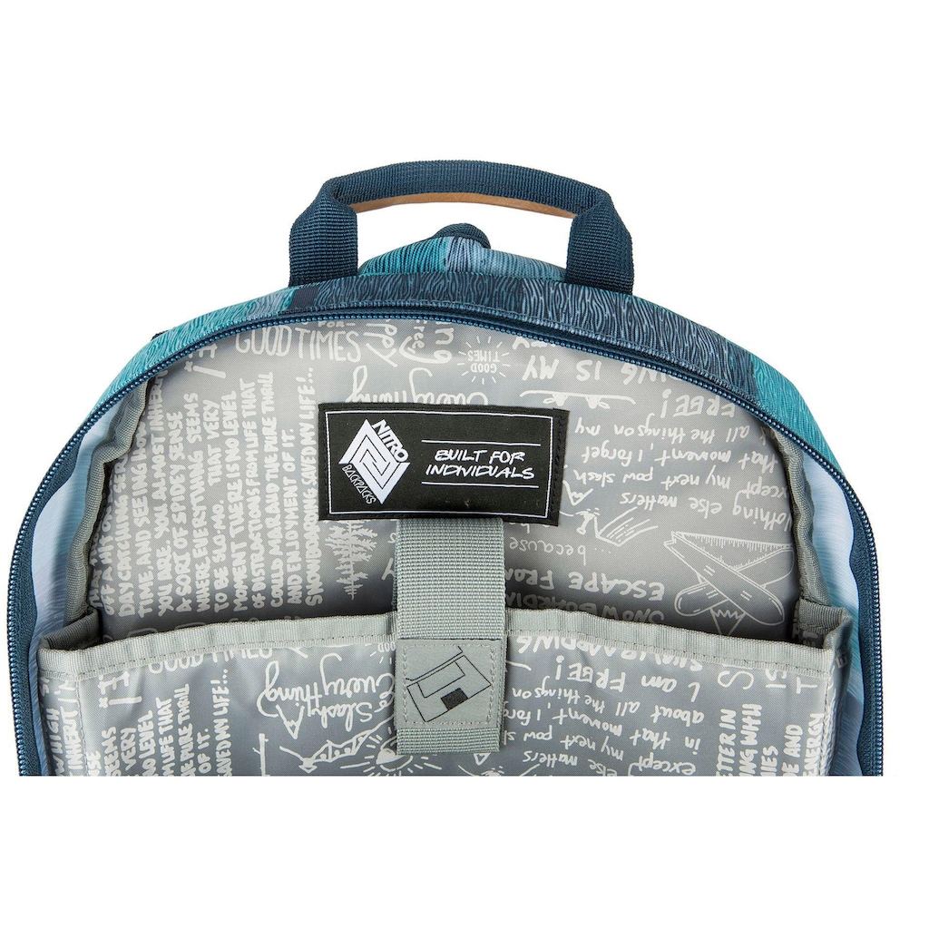 NITRO Schulrucksack »Stash 24, Zebra Ice«