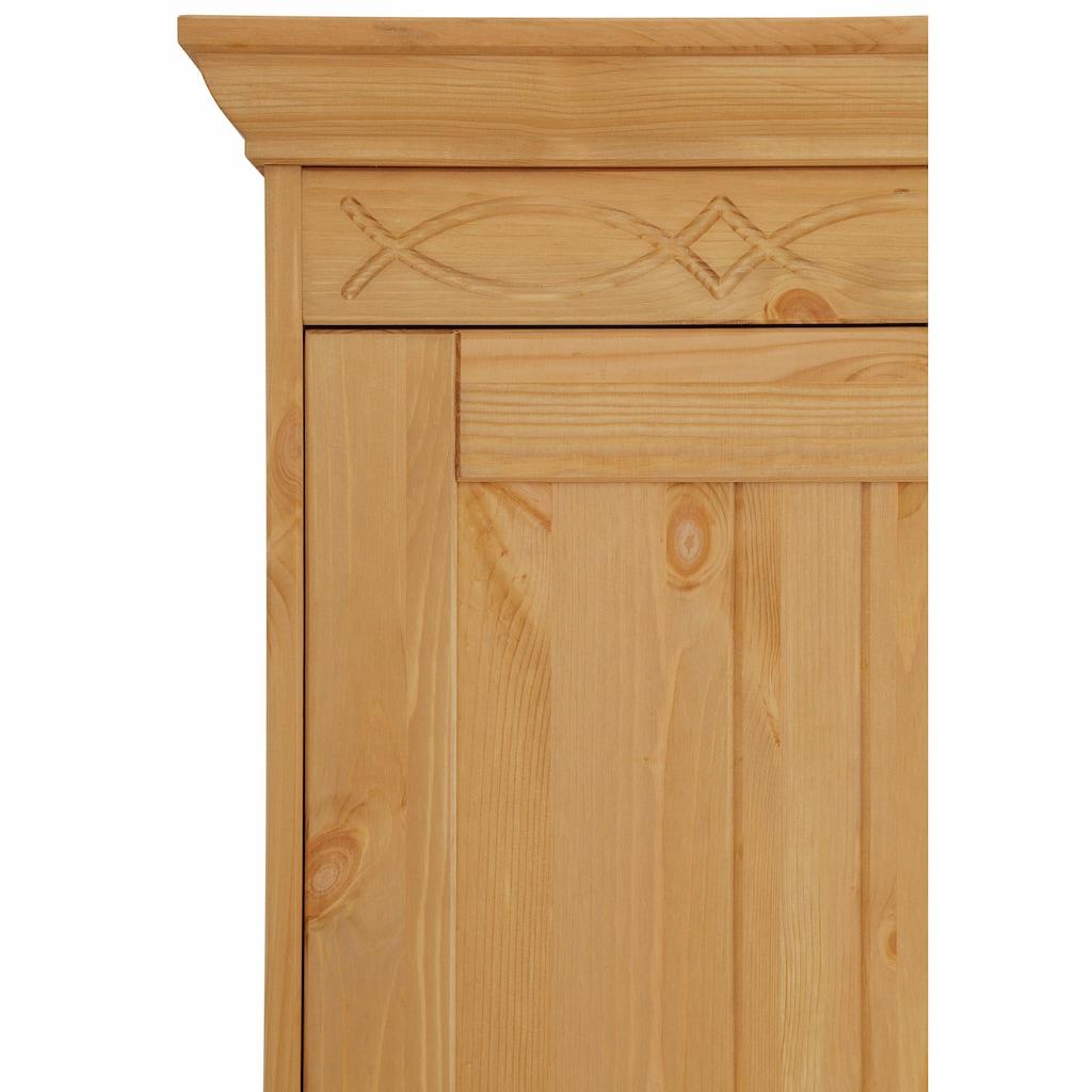 Home affaire Drehtürenschrank »Indra«, in 4 Breiten, mit dekorativen Fräsungen