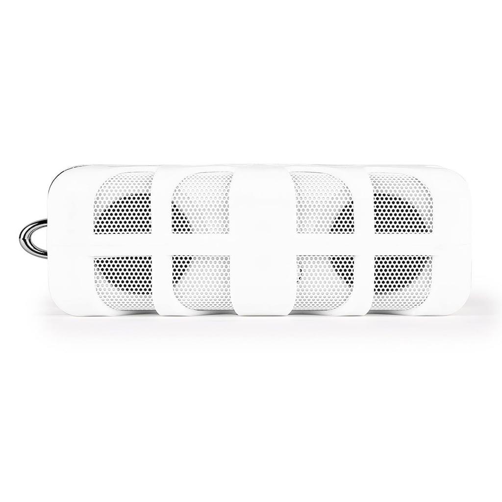 ONECONCEPT Bluetooth Stereo Lautsprecher Klinke AUX Akku Stoßfest »Know«