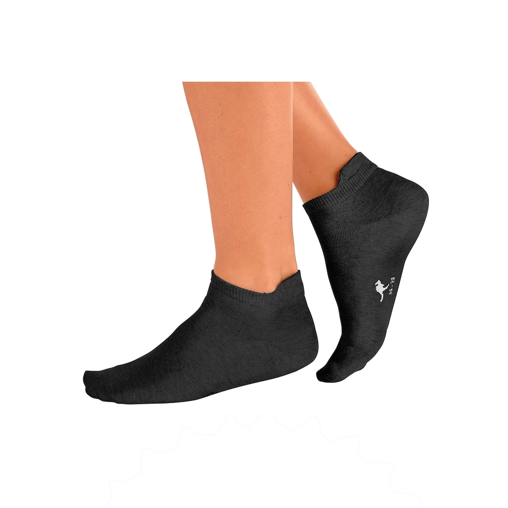 KangaROOS Sneakersocken, (10 Paar), mit erhöhter Ferse