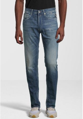 Replay 5-Pocket-Jeans »WILLBI«, mit gefransten Löchern kaufen