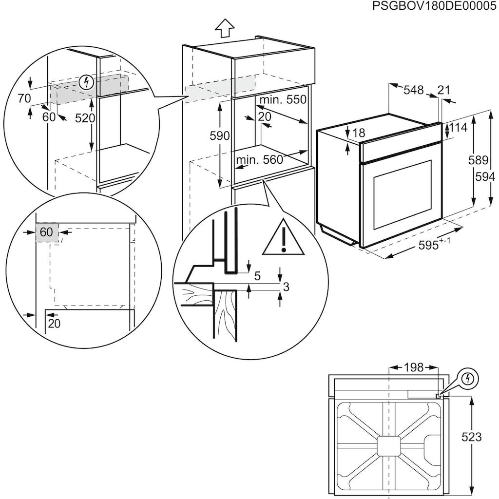 AEG Elektro-Herd-Set »EES23101ZM + HE604062XB«