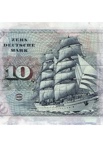 queence Holzbild »Schiff auf Deutscher Mark«, 40x40 cm kaufen