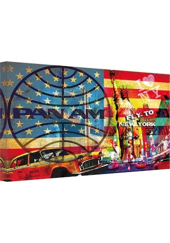 Wall-Art Leinwandbild »PAN AM - New York« kaufen