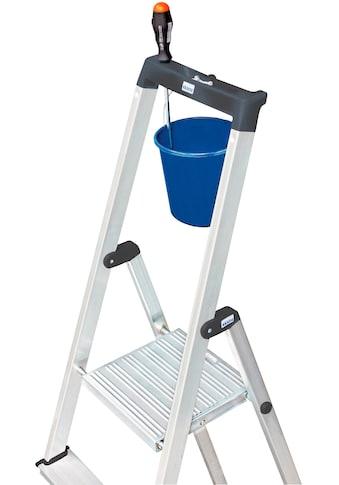 KRAUSE Stehleiter »Solidy«, Aluminium, 1x4 Stufen, Arbeitshöhe ca. 284 cm kaufen