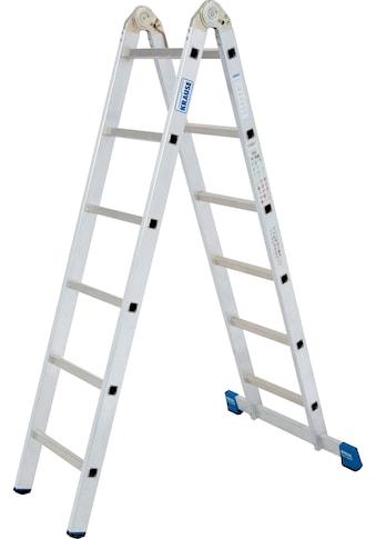 KRAUSE Gelenkleiter »Stabilo«, Combileiter mit 2x3 und 2x6 Sprossen kaufen