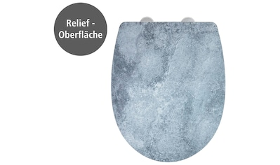 WENKO WC-Sitz »Cement mit Relief«, Thermoplast kaufen