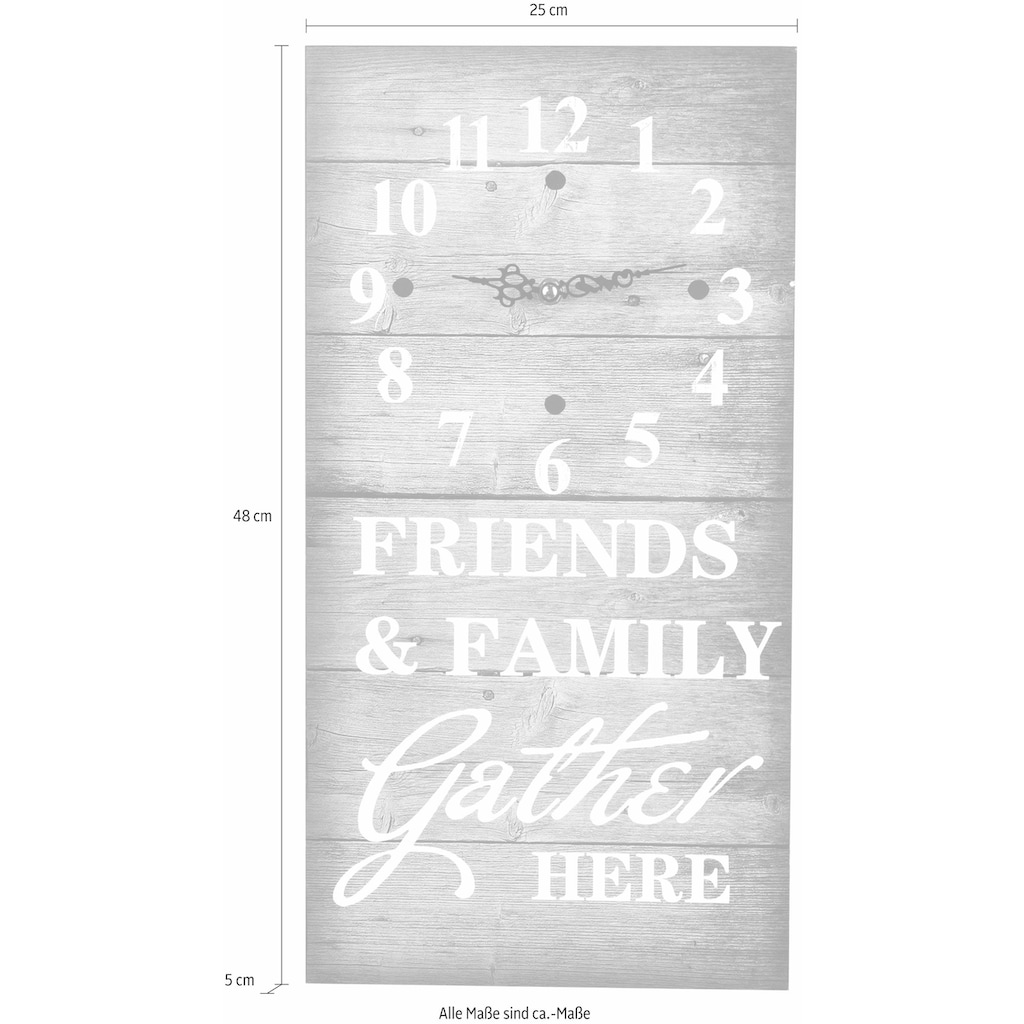 pajoma Wanduhr »Friends & Family«