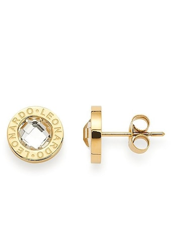 LEONARDO Paar Ohrstecker »015568, gold/klar Matrix«, mit Glassteinen kaufen