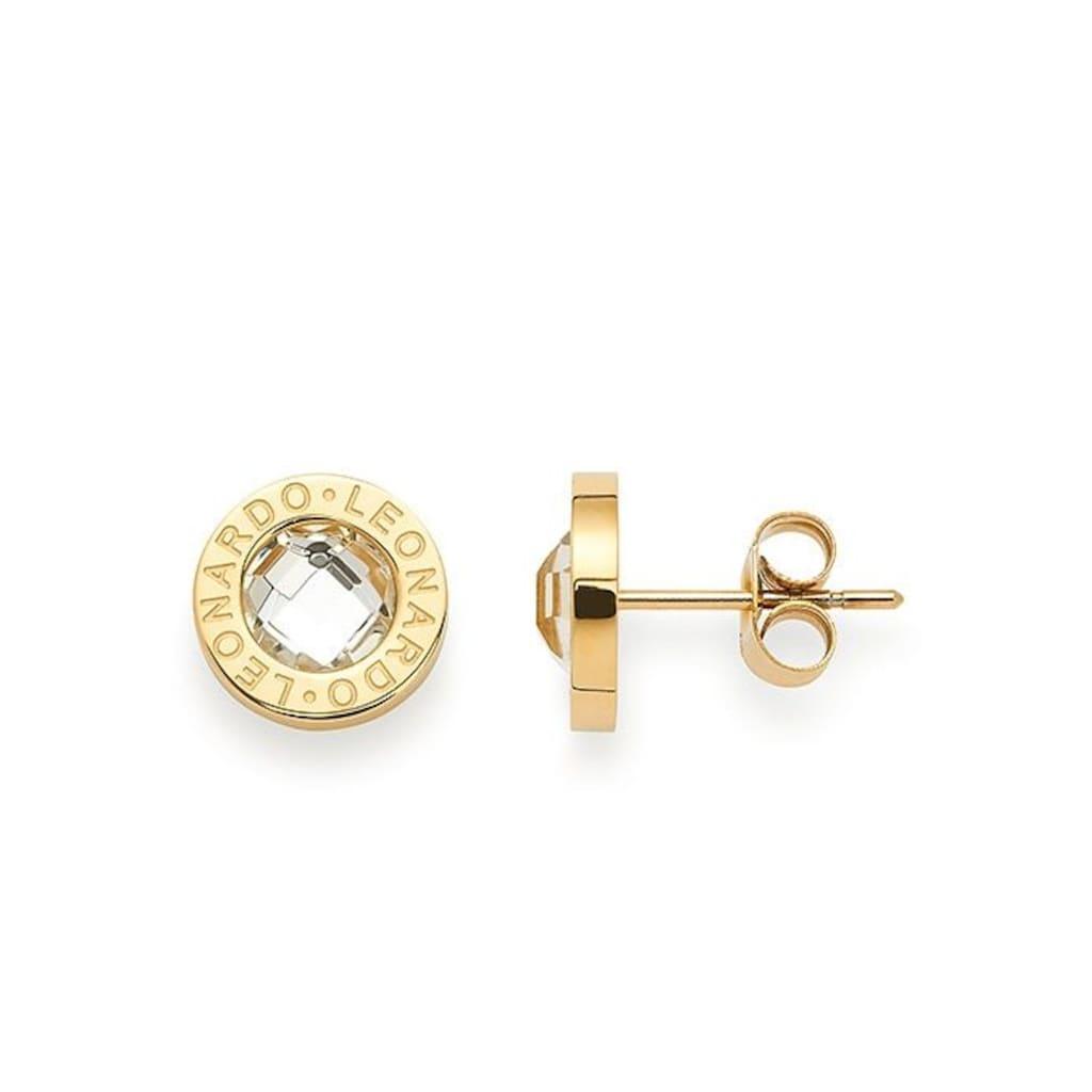 LEONARDO Paar Ohrstecker »015568, gold/klar Matrix«, mit Glassteinen