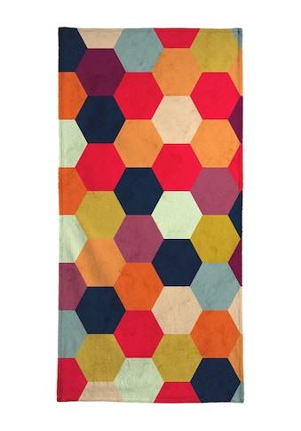 """Handtuch """"Colorful Beehive Pattern"""", Juniqe kaufen"""