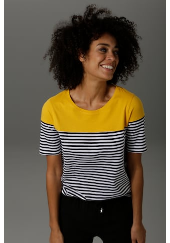 Aniston CASUAL T-Shirt, im Marine-Look - NEUE KOLLEKTION kaufen
