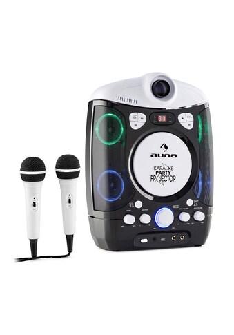 Auna Kinder Karaoke Anlage mit LCD Beamer LED Lichtshow 2 Mics USB »Kara Projectura« kaufen
