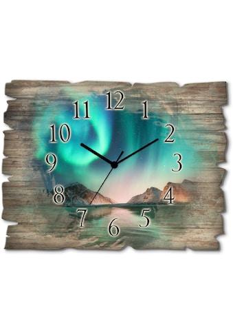 Artland Wanduhr »Auroraborialis  -  Nördliches Polarlicht« kaufen