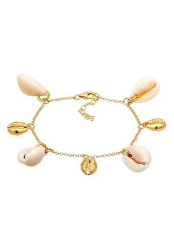 Elli Armband »Echte Kauri Muscheln Sommer 925 Silber vergoldet« kaufen