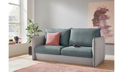 INOSIGN Polstergarnitur »Tiny Mike«, (3 tlg.), Verwandlungsofa: 2 Hocker im Sofa... kaufen