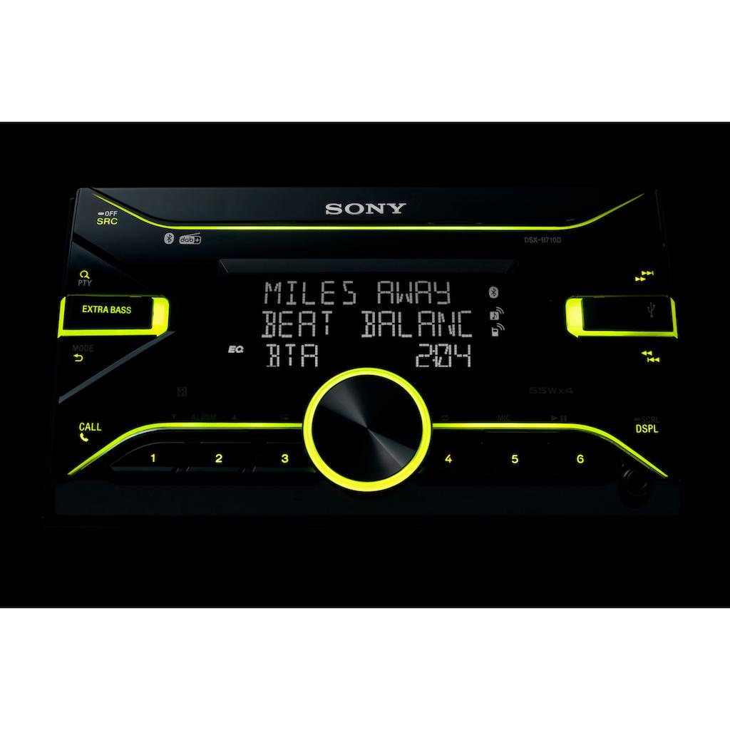 Sony Autoradio »DSXB710KITEUR«, (Bluetooth Digitalradio (DAB+)-FM-Tuner 55 W)