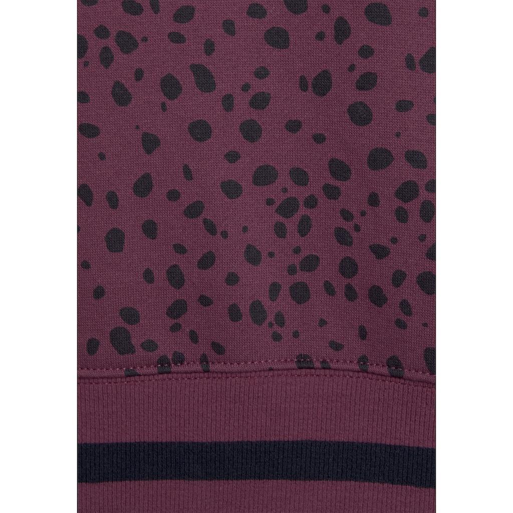Buffalo Kapuzensweatshirt, mit Eingrifftaschen und breiten Bündchen