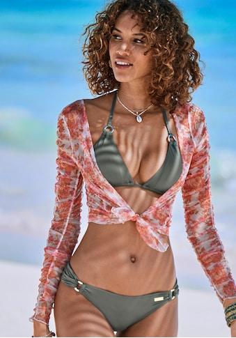 LASCANA Triangel-Bikini-Top »Italy«, mit Zierringen kaufen