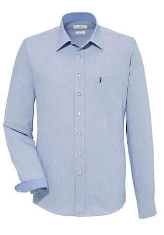 Almsach Trachtenhemd, mit kleiner Hirschstickerei kaufen