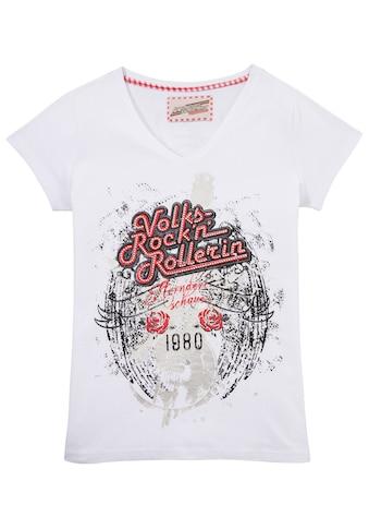 Andreas Gabalier Kollektion Trachtenshirt, Damen mit Glitzersteinchen kaufen
