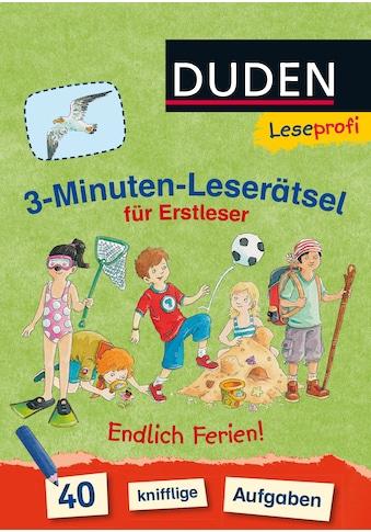 Buch »Duden Leseprofi - 3-Minuten-Leserätsel für Erstleser: Endlich Ferien! / Susanna... kaufen