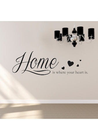 QUEENCE Wandtattoo »Home is where your heart is«, 120 x 30 cm kaufen