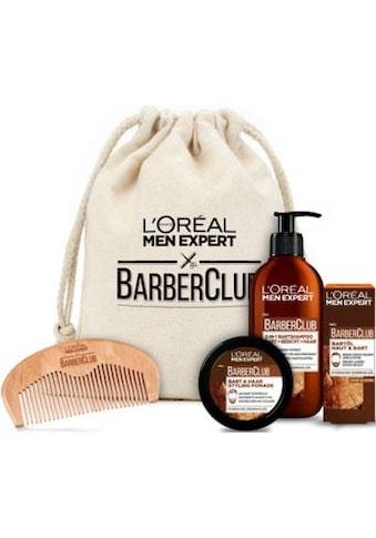 L'ORÉAL PARIS MEN EXPERT Geschenk-Set »Barber Club Premium«, (5 tlg.), die ganze Bartpflegeroutine im coolen Jutebeutel kaufen