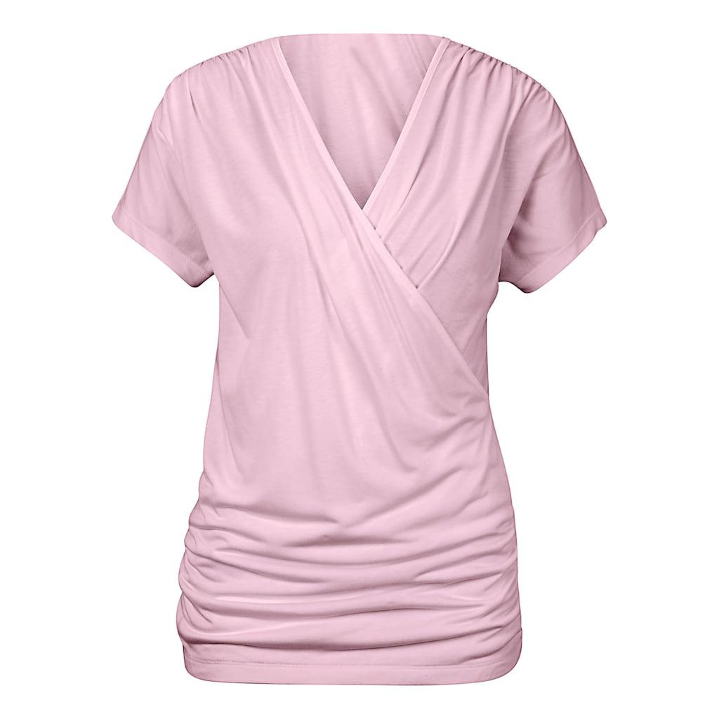 Shirt in Wickeloptik